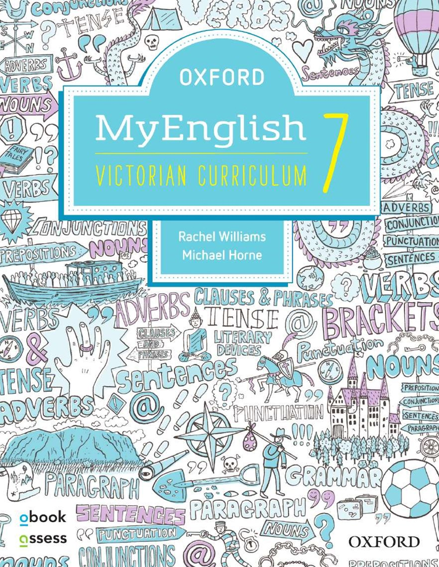 Oxford Myenglish 7 Victorian Curriculum Student Book + Obook/assess + Upskill