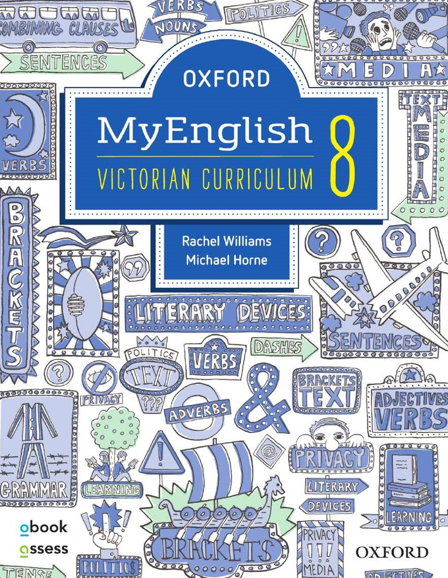 Oxford Myenglish 8 Victorian Curriculum Student Book + Obook/assess + Upskill