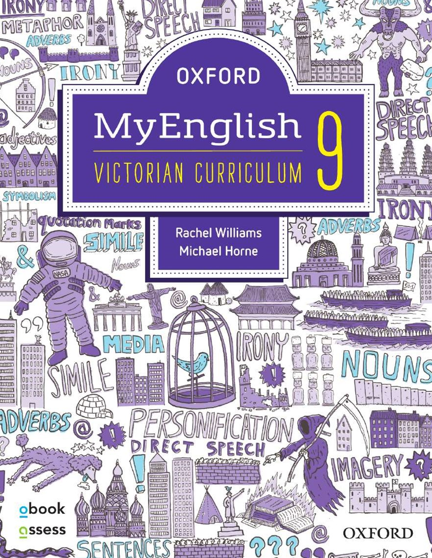 Oxford Myenglish 9 Victorian Curriculum Student Book + Obook/assess + Upskill