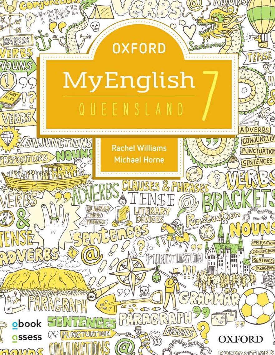 Oxford Myenglish 7 for QLD Curriculum Student Book + Obook/assess + Upskill