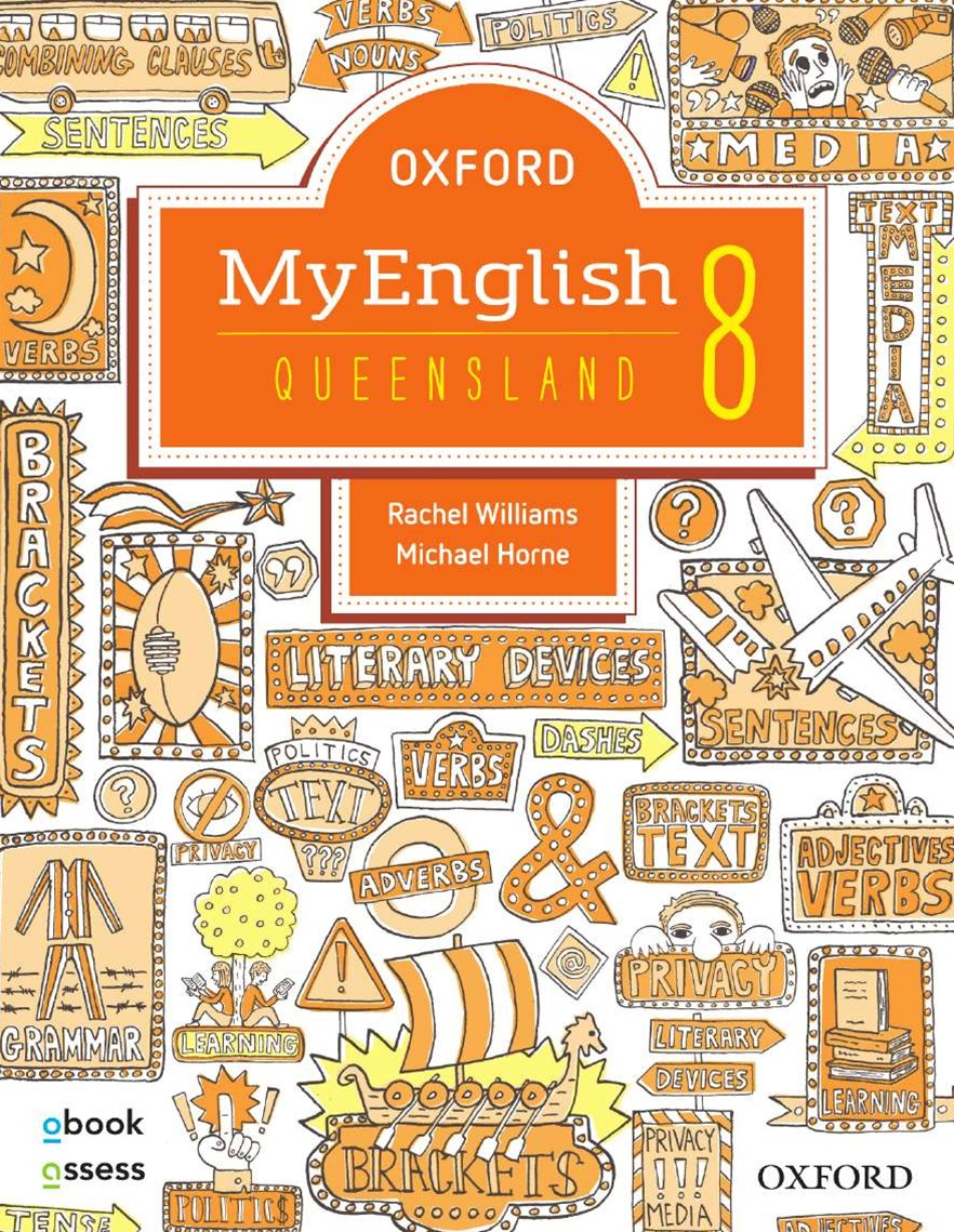 Oxford Myenglish 8 for QLD Curriculum Student Book + Obook/assess + Upskill