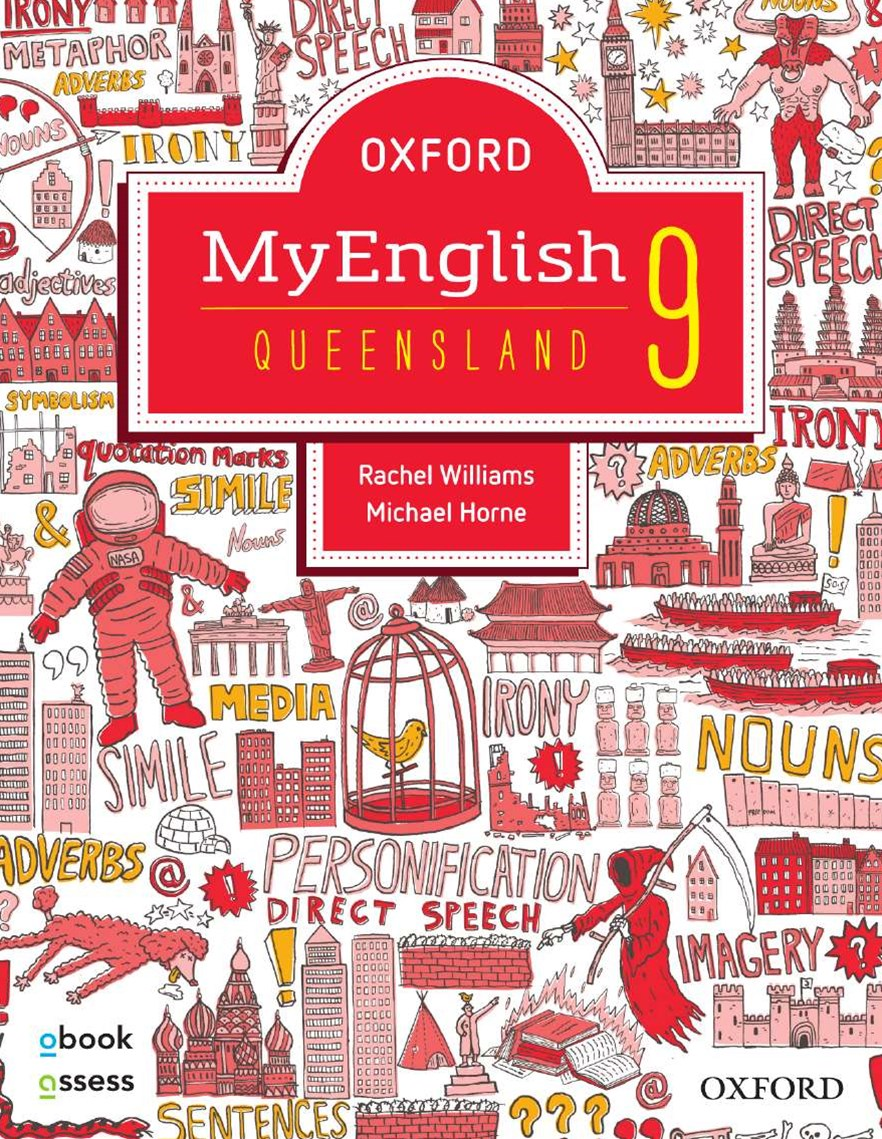 Oxford Myenglish 9 for QLD Curriculum Student Book + Obook/assess + Upskill