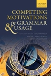 (ebook) Competing Motivations in Grammar and Usage - Philosophy
