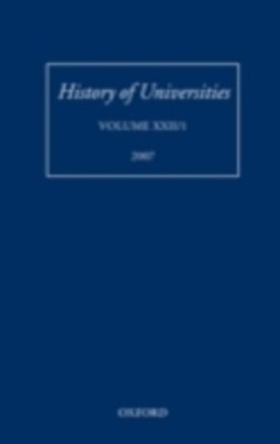 History of Universities: Volume XXII/1