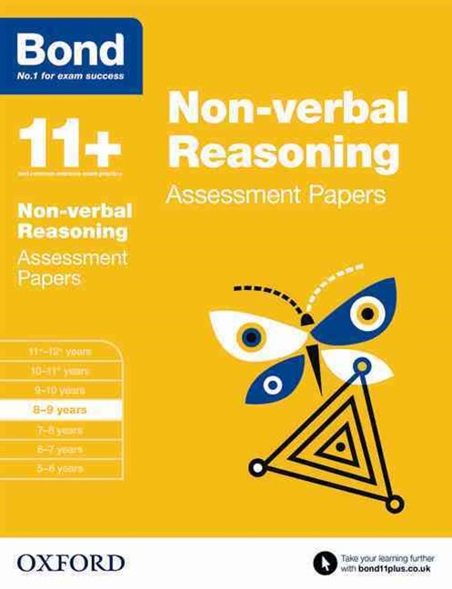 Bond 11 Nonverbal Reasoning Assessment Papers 8 to 9