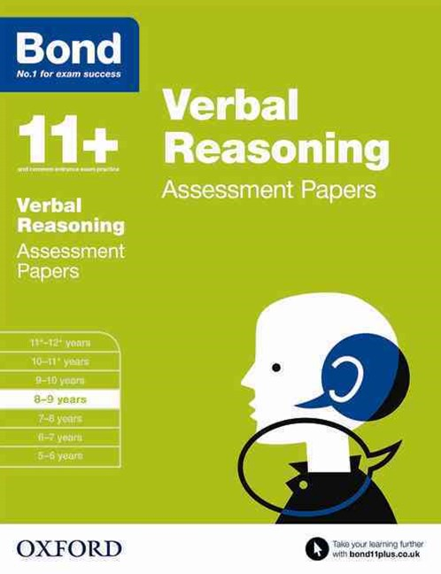 Bond 11 Verbal Reasoning Assessment Papers 8 to 9