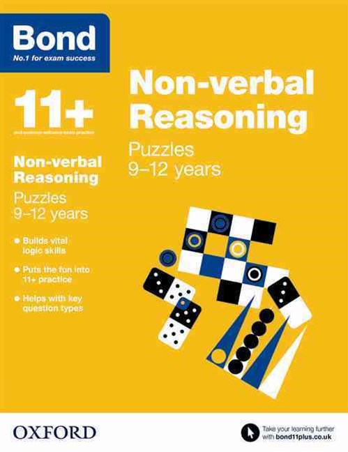 Bond 11 Non Verbal Reasoning Puzzles 9 to 12 years