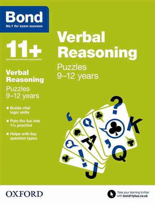Bond 11 Verbal Reasoning Puzzles 9 to 12 years