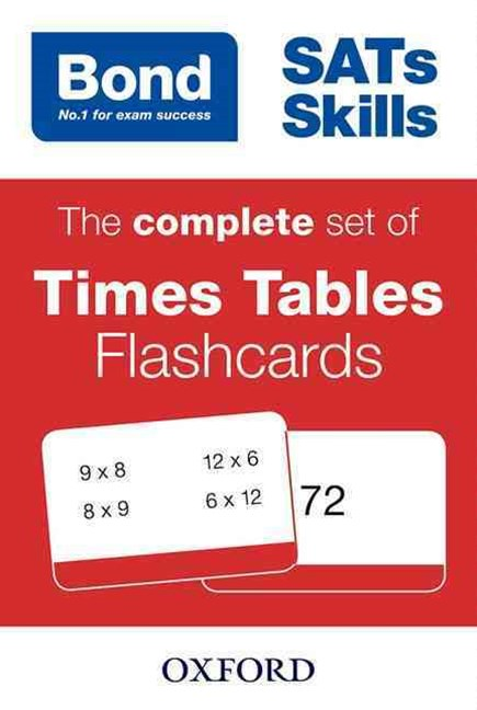 Bond Maths Flashcards Times Tables