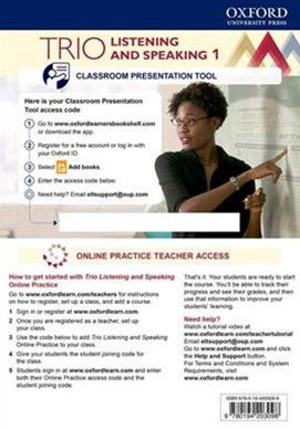 Trio Listening and Speaking: Level One Teacher's Online Practice Pack