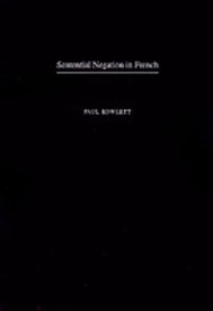 Sentential Negation in French