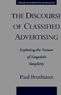 (ebook) Discourse of Classified Advertising