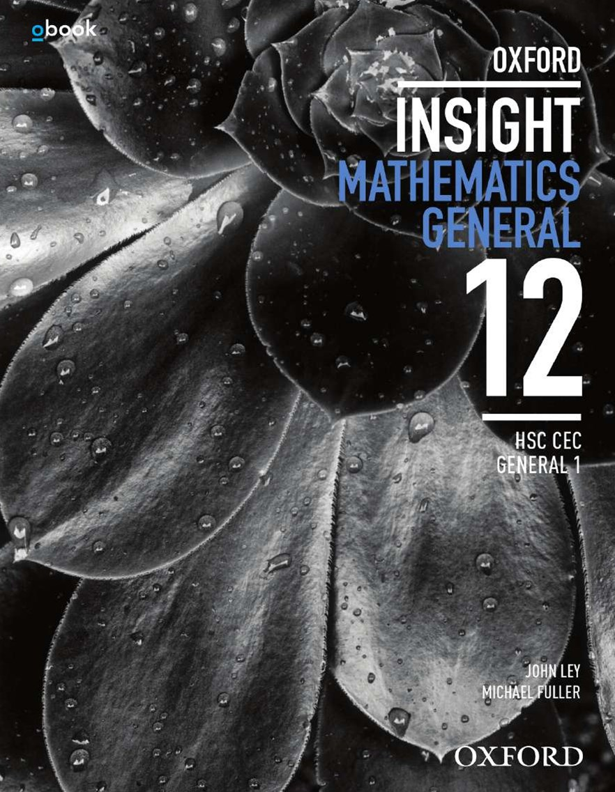 Oxford Insight Mathematics General HSC CEC 1 Student Book + obook