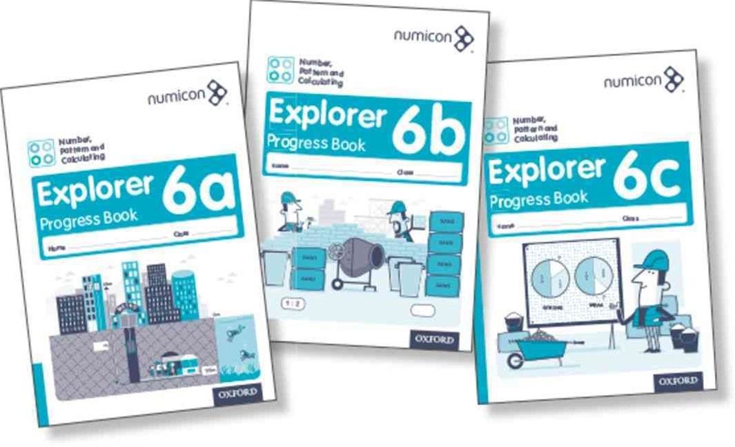 Numicon Number, Pattern and Calculating 6 Explorer Progress Books ABC Mixed Pa