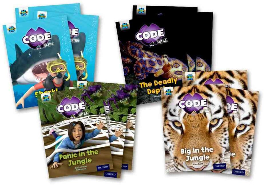 Project X CODE Extra Green Book Band Oxford Level 5 Jungle Trail and Shark Dive