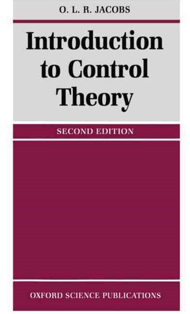 Intro To Control Theory  2Ed