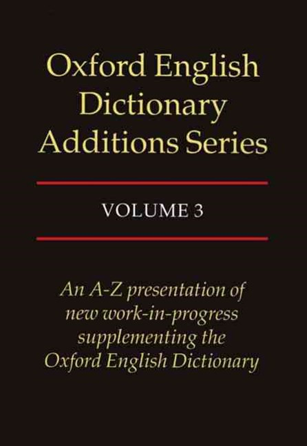 Oxford English Dictionary Additions Series