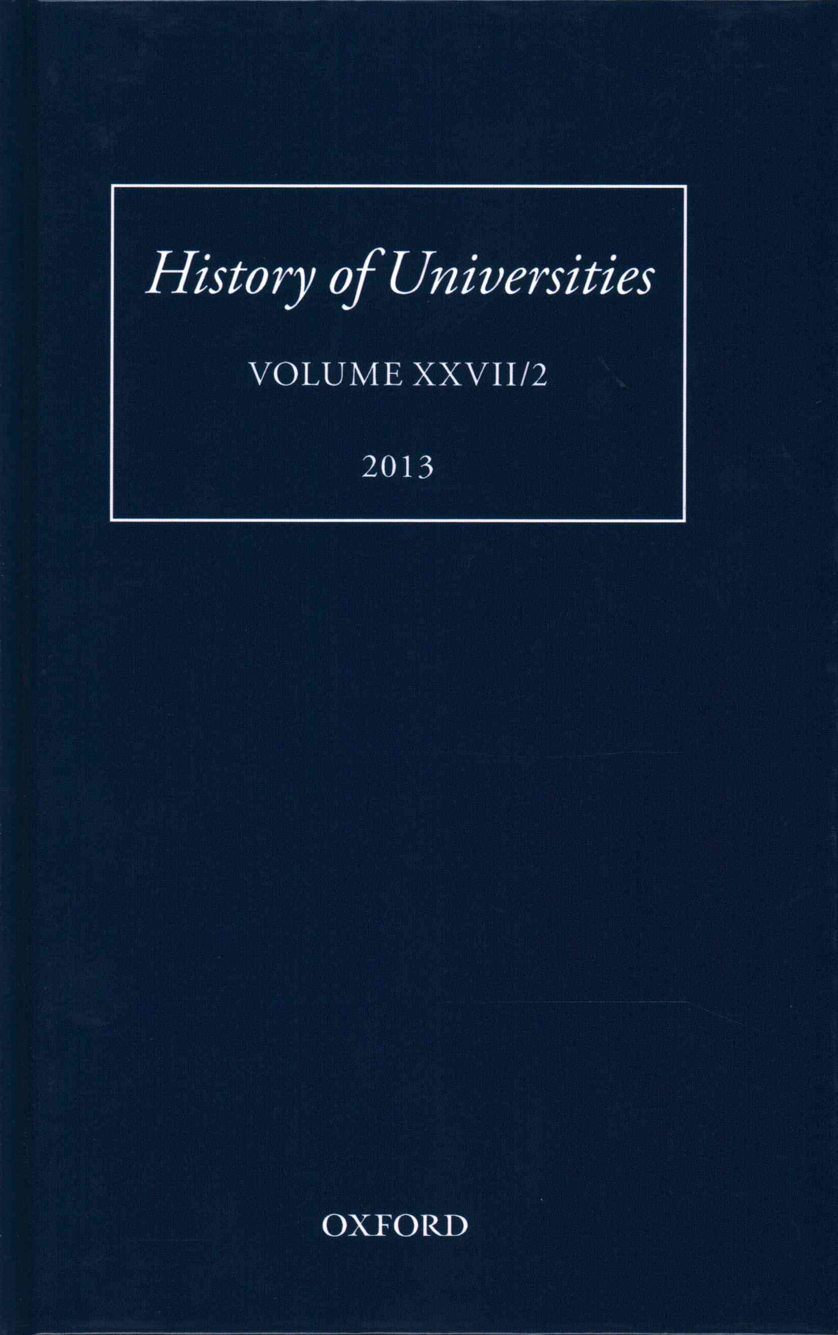 History of Universities Volume XXVII/2