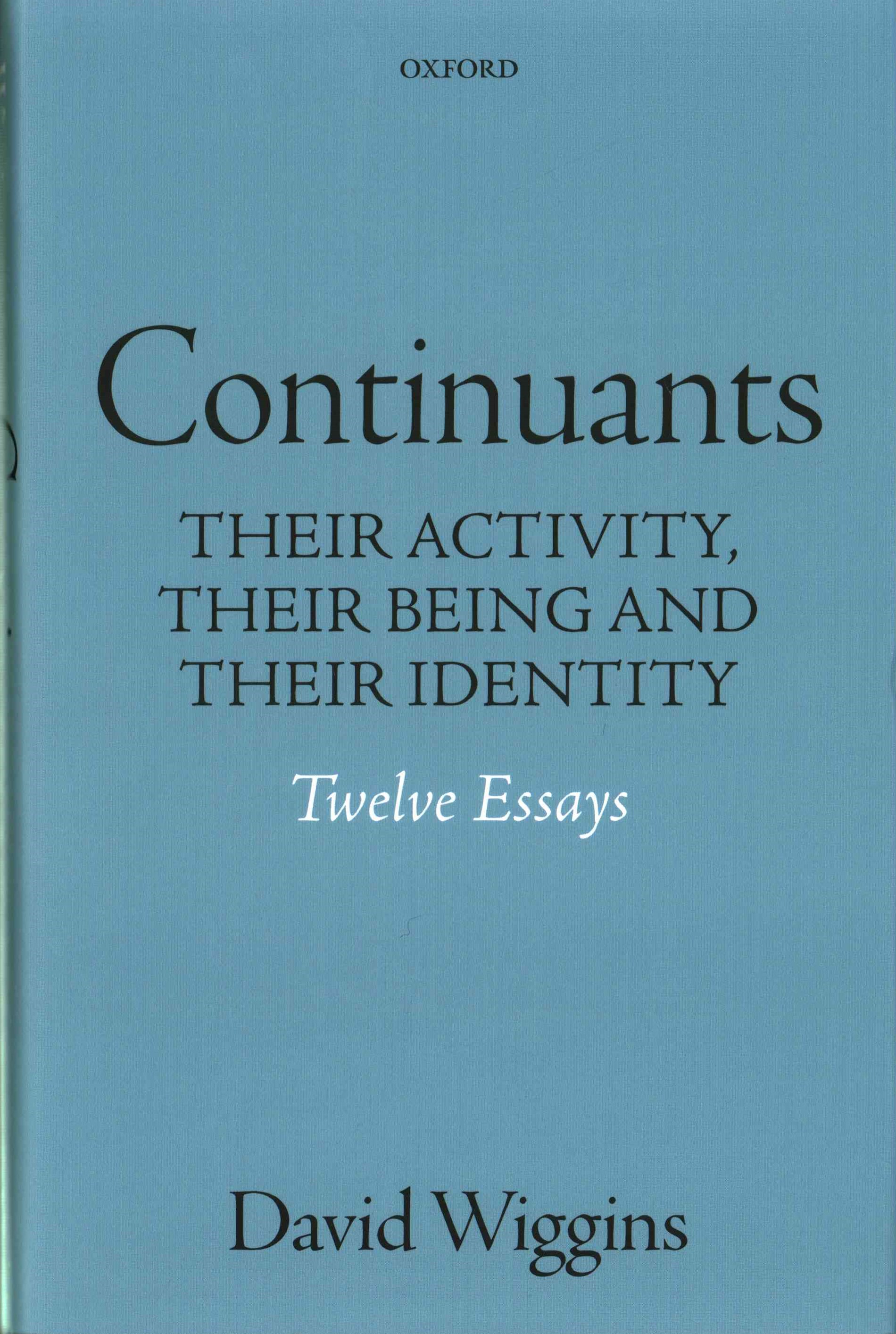Essays on Identity and Substance
