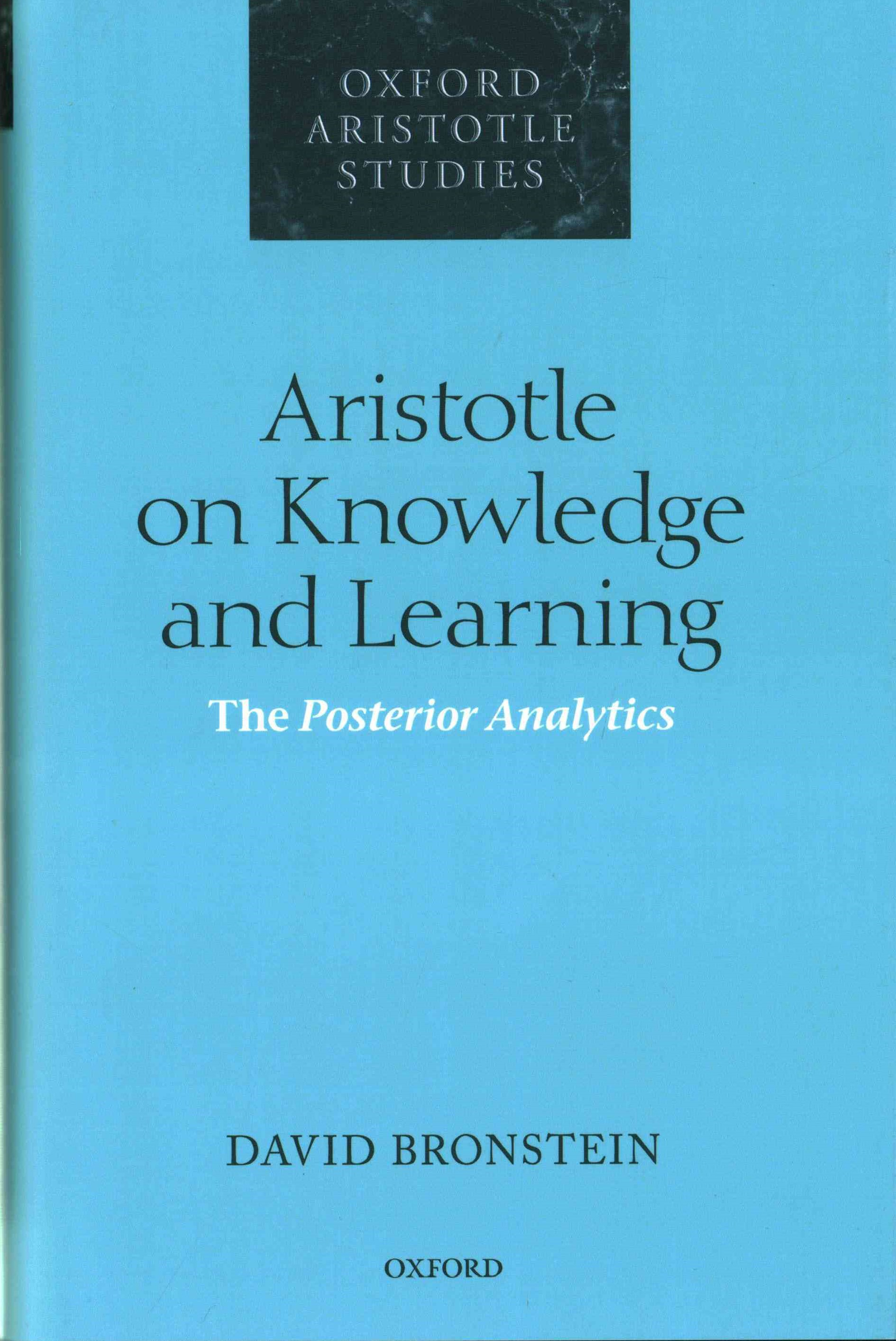 Aristotle on Knowledge and Learning