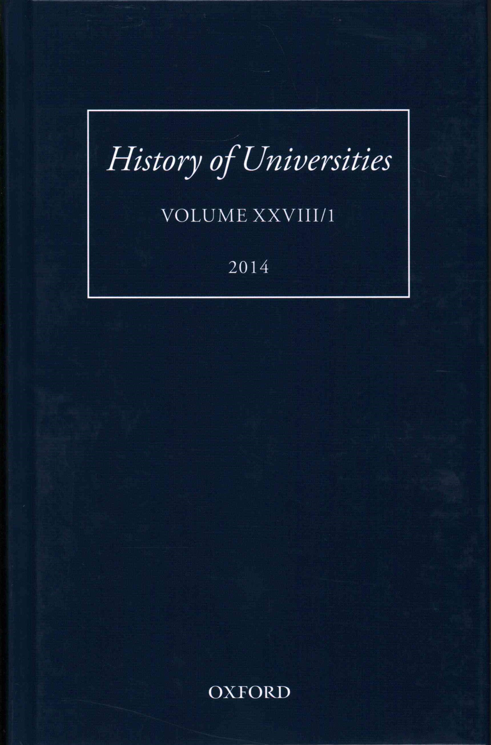 History of Universities, Volume XXVIII/1