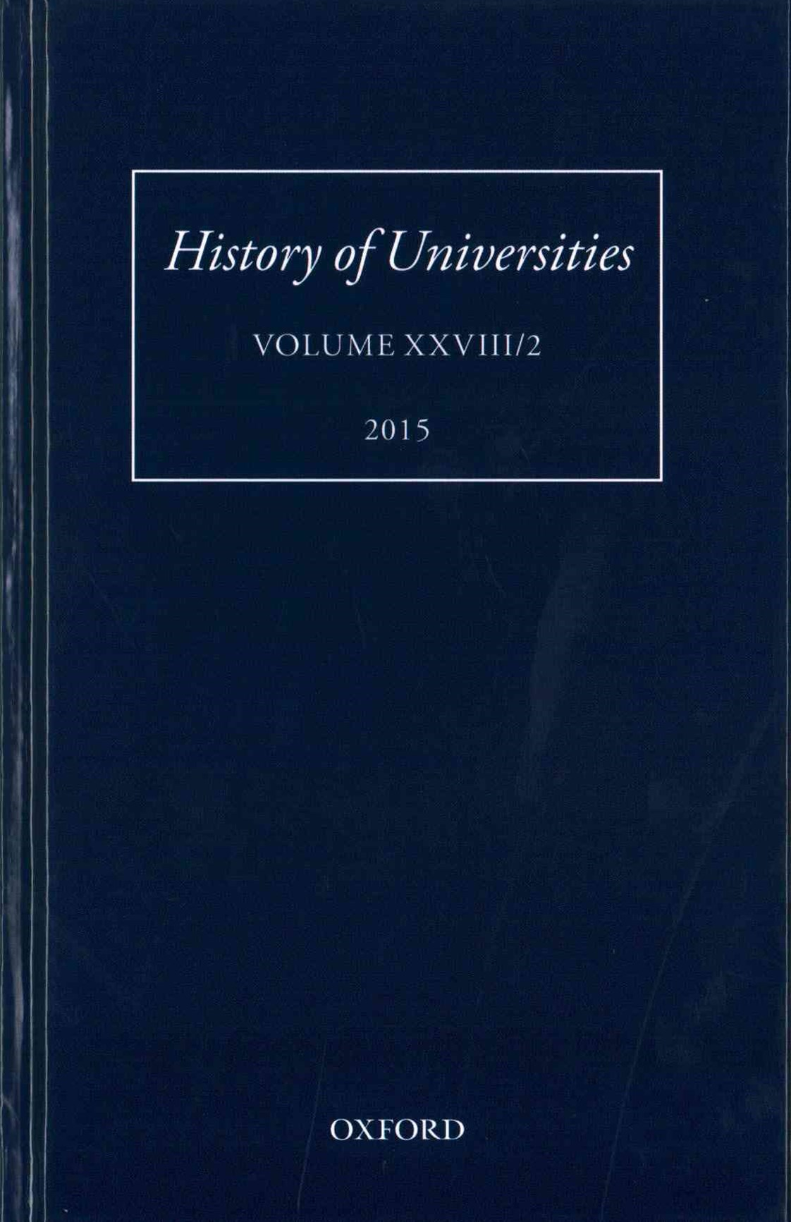 History of Universities, Volume XXVIII