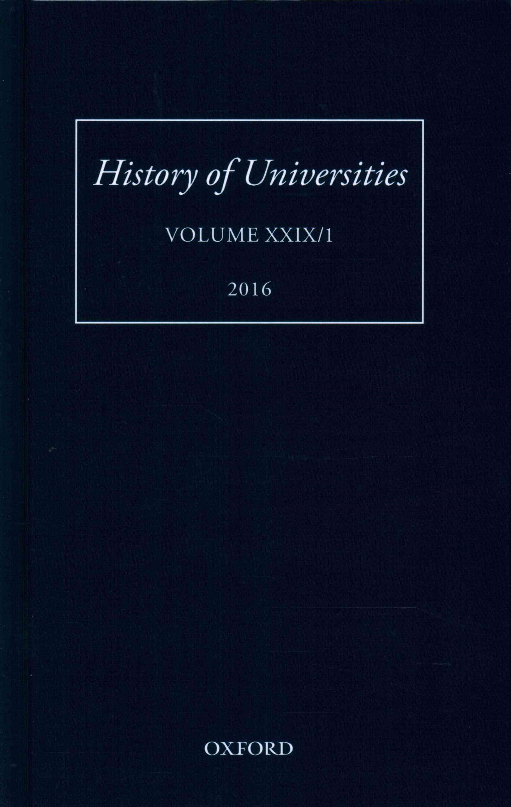 History of Universities, Volume XXIX / 1