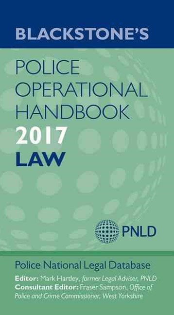 Blackstone's Police Operational Handbook 2017