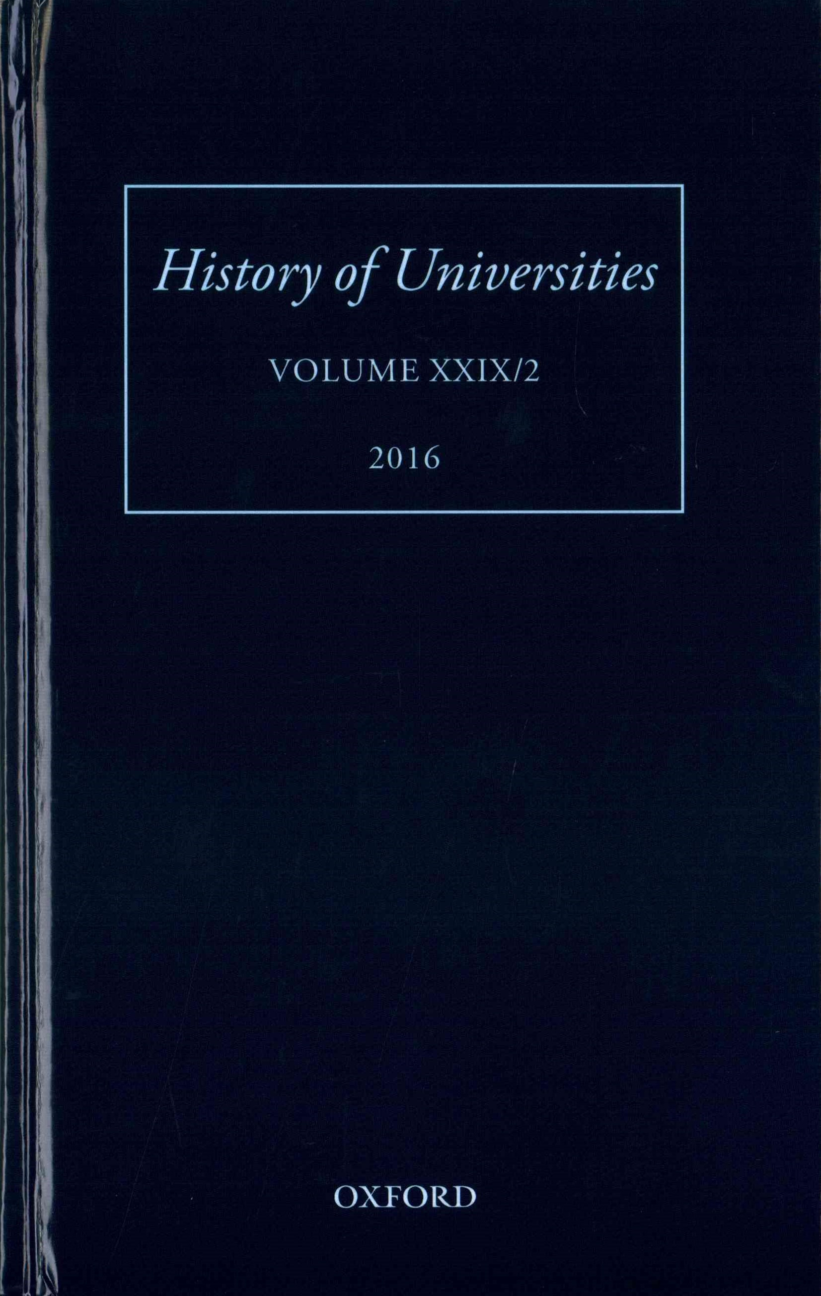 History of Universities Volume XXIX / 2