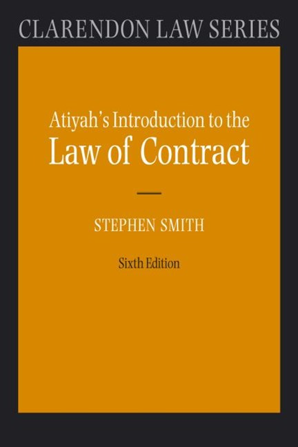Atiyah's Introduction to the Law of Contract