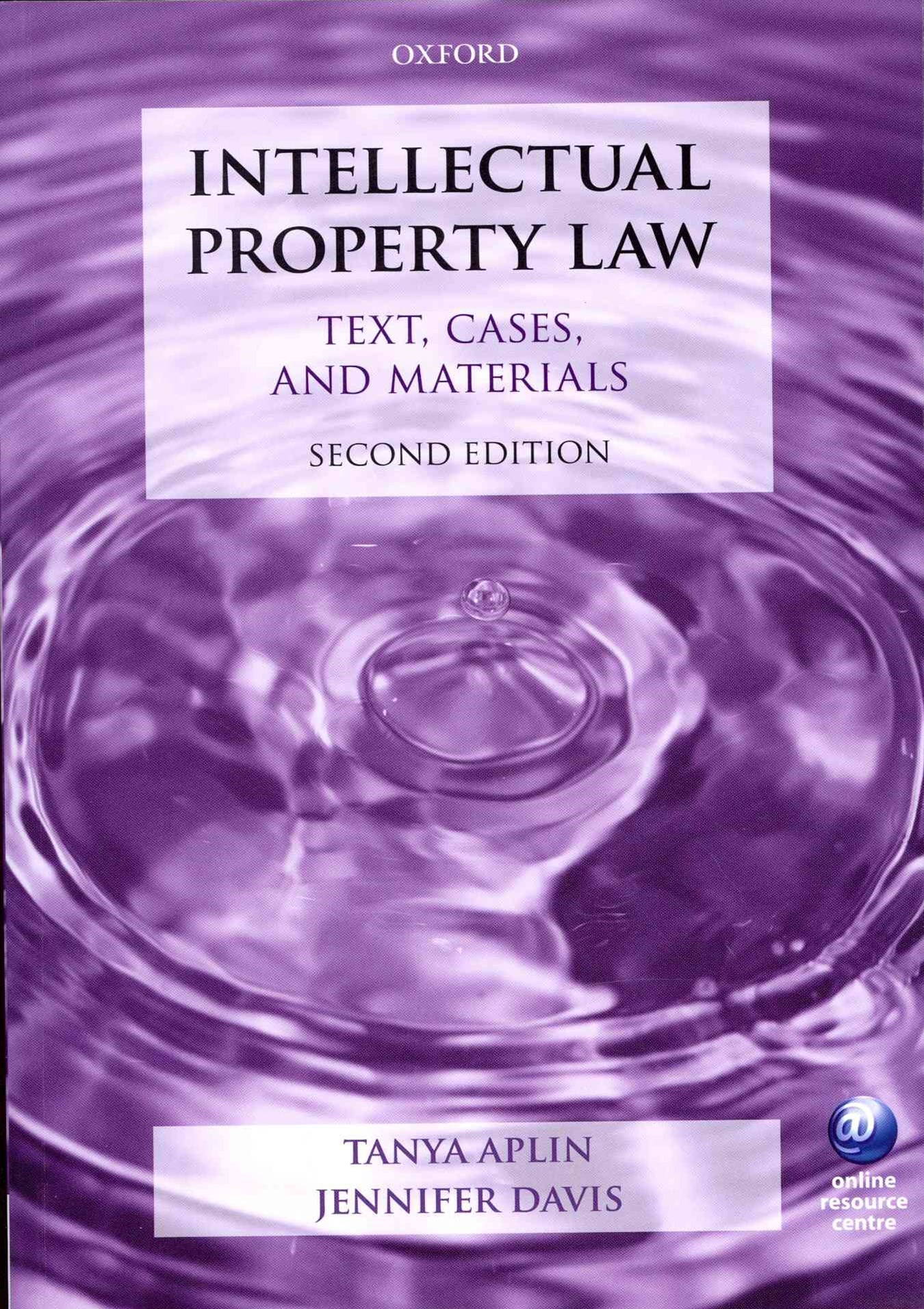 Intellectual Property Law: Text, Cases, and Materials