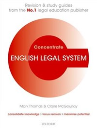 English Legal System Concentrate