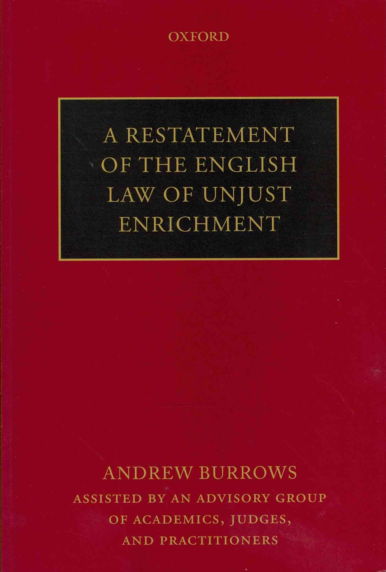 Restatement of the English Law of Unjust Enrichment