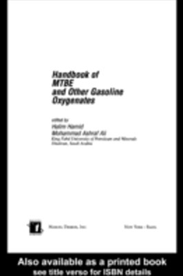 (ebook) Handbook of MTBE and Other Gasoline Oxygenates