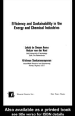 (ebook) Efficiency and Sustainability in the Energy and Chemical Industries