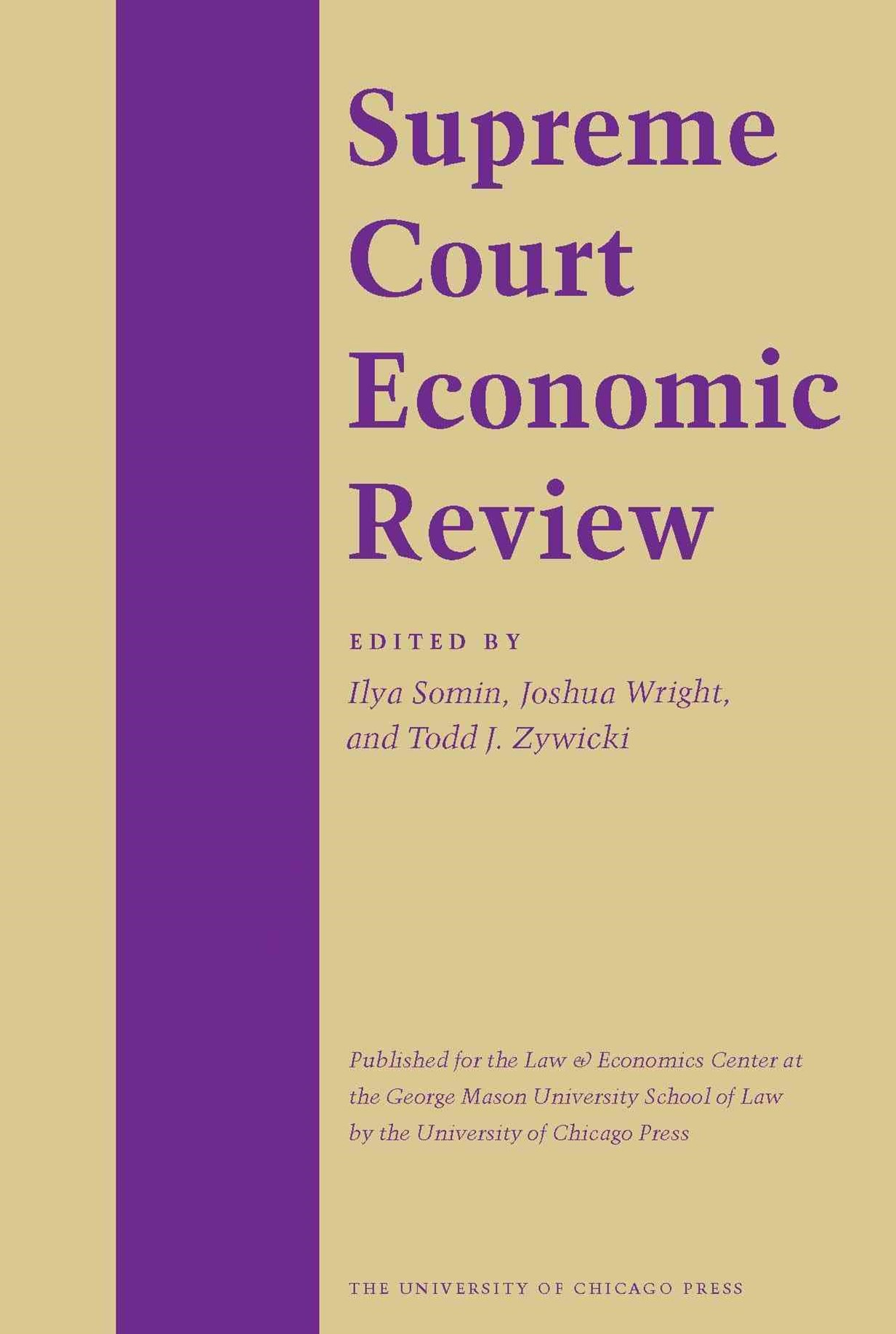 The Supreme Court Economic Review
