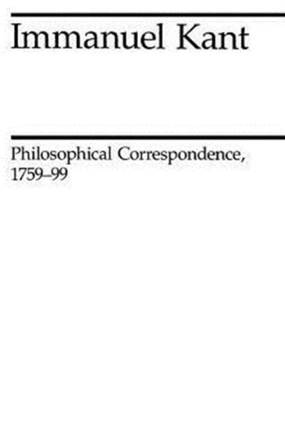 Philosophical Correspondence, 1759-1799