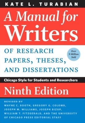 (ebook) A Manual for Writers of Research Papers, Theses, and Dissertations, Ninth Edition