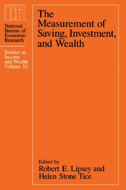 Measurement of Saving, Investment, and Wealth