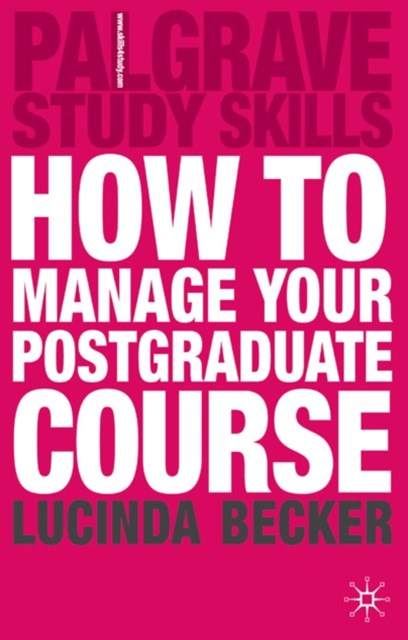 (ebook) How to Manage your Postgraduate Course