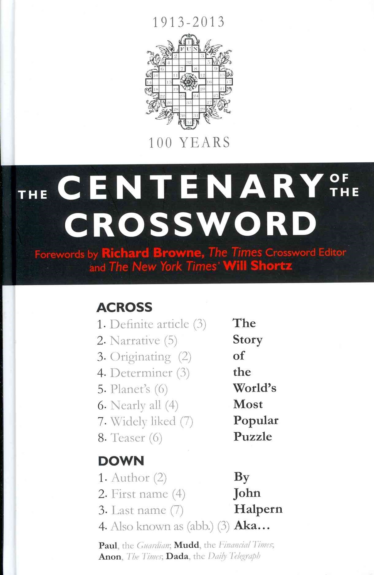 The Centenary of the Crossword
