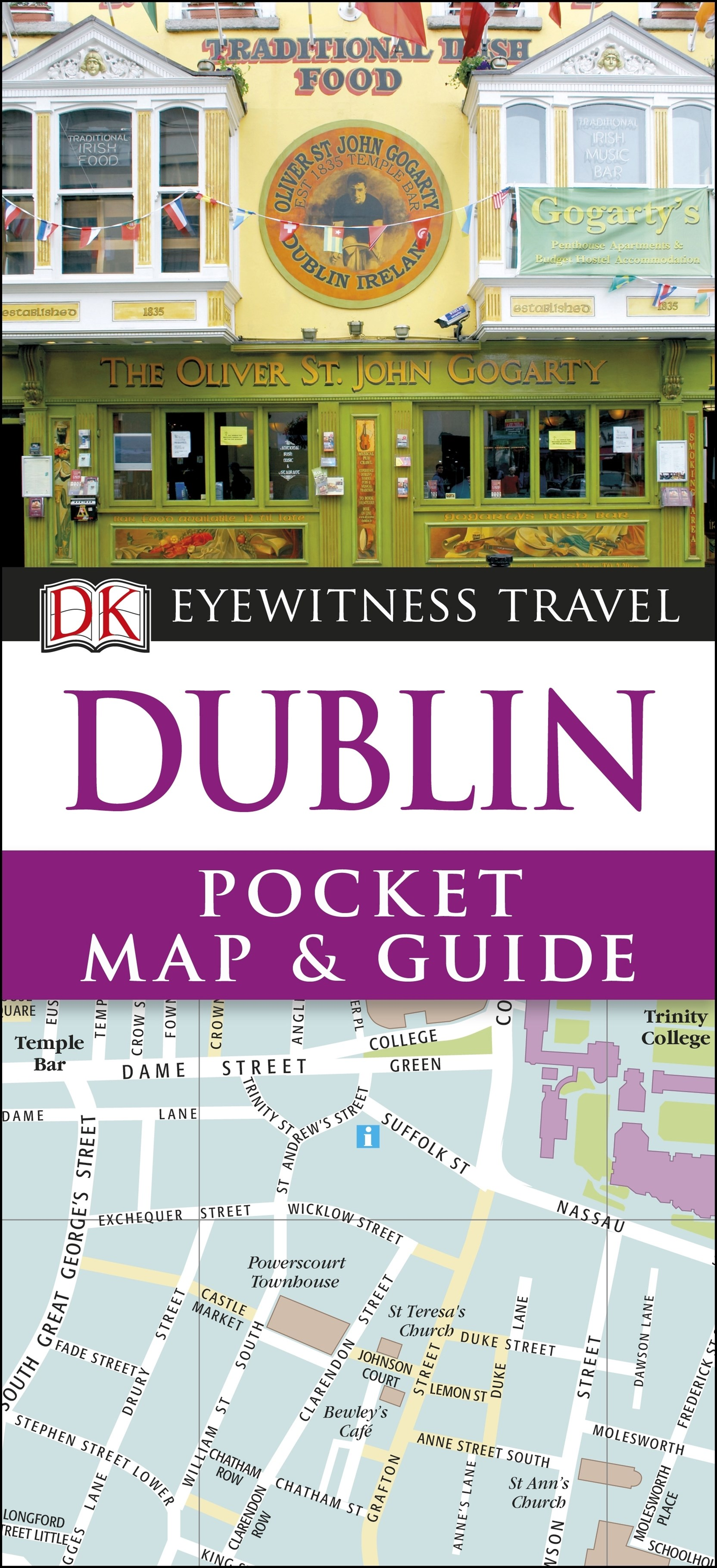 Dublin Eyewitness Pocket Map And Guide