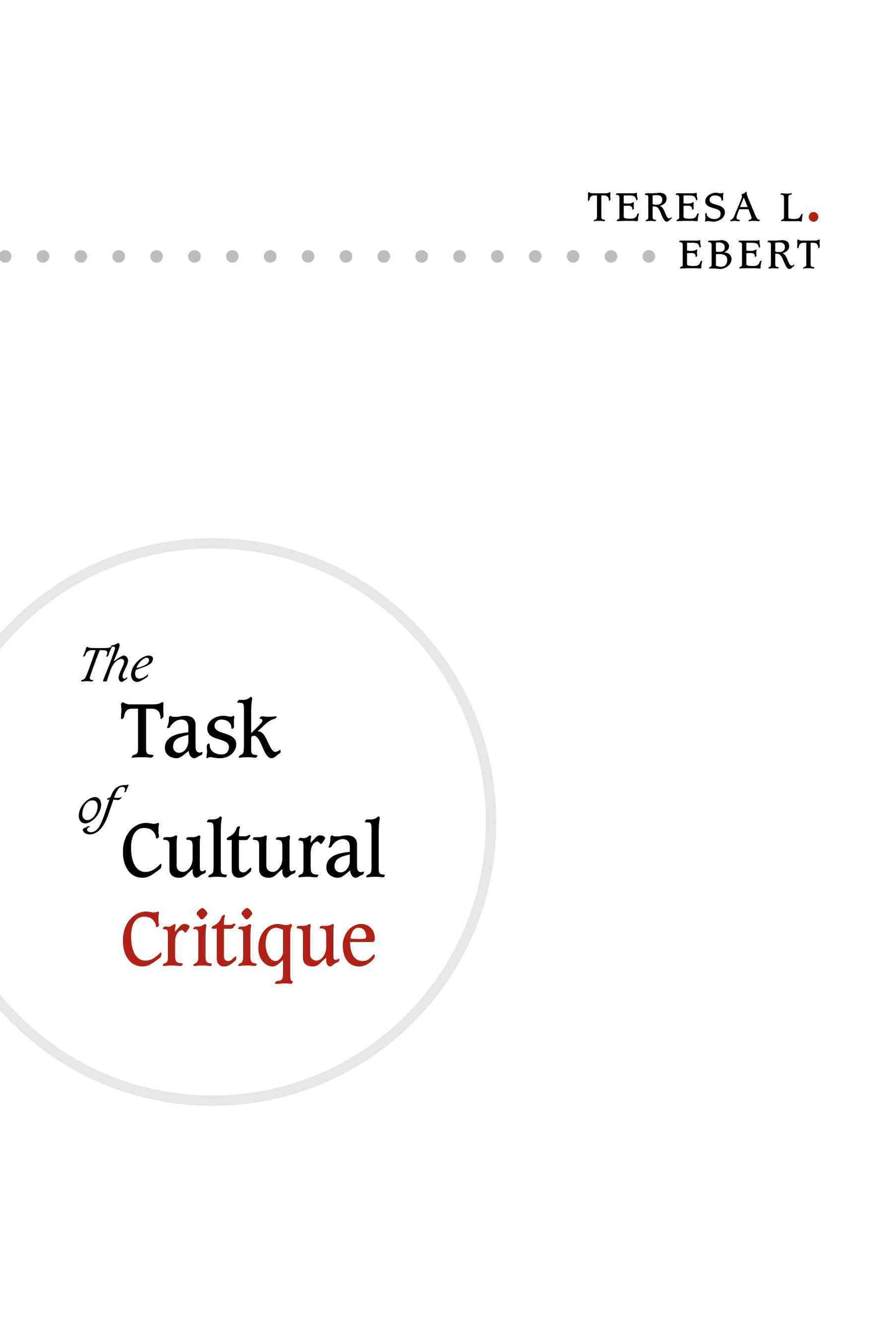 Task of Cultural Critique