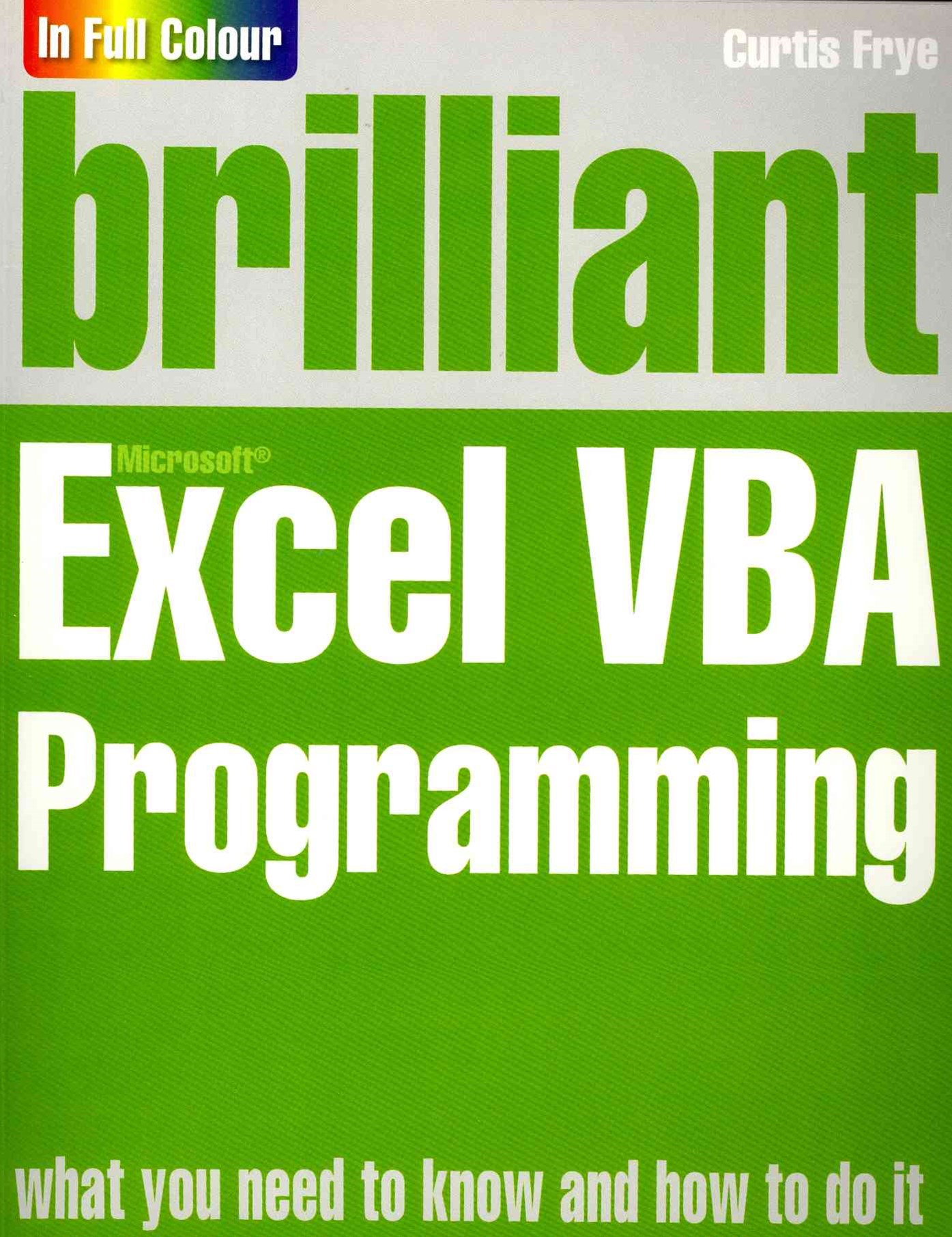 Brilliant Excel VBA Programming