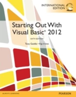 (ebook) Starting Out With Visual Basic: International Edition