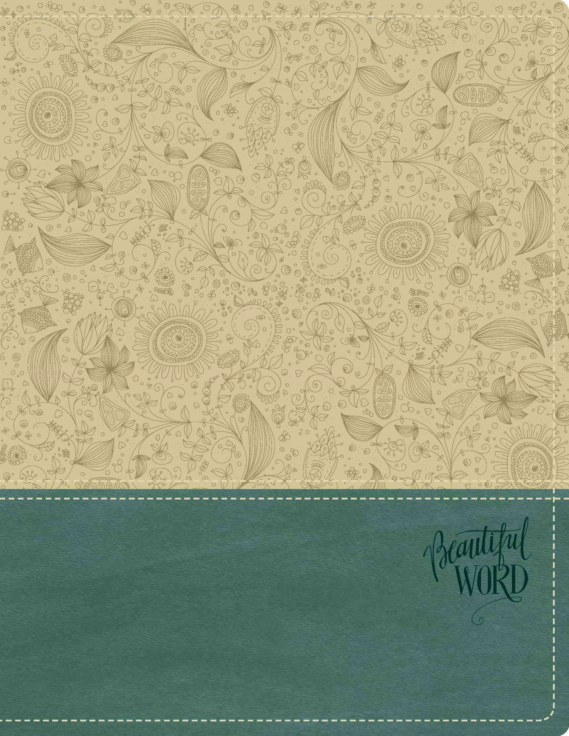NKJV Beautiful Word Bible [Italian Duo-Tone Taupe/Peacock Blue]