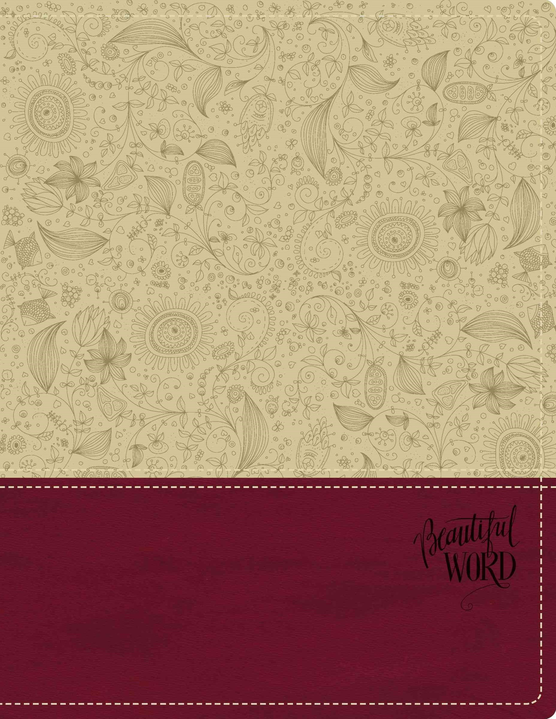 KJV Beautiful Word Bible [Italian Duo-Tone Taupe/Berry]