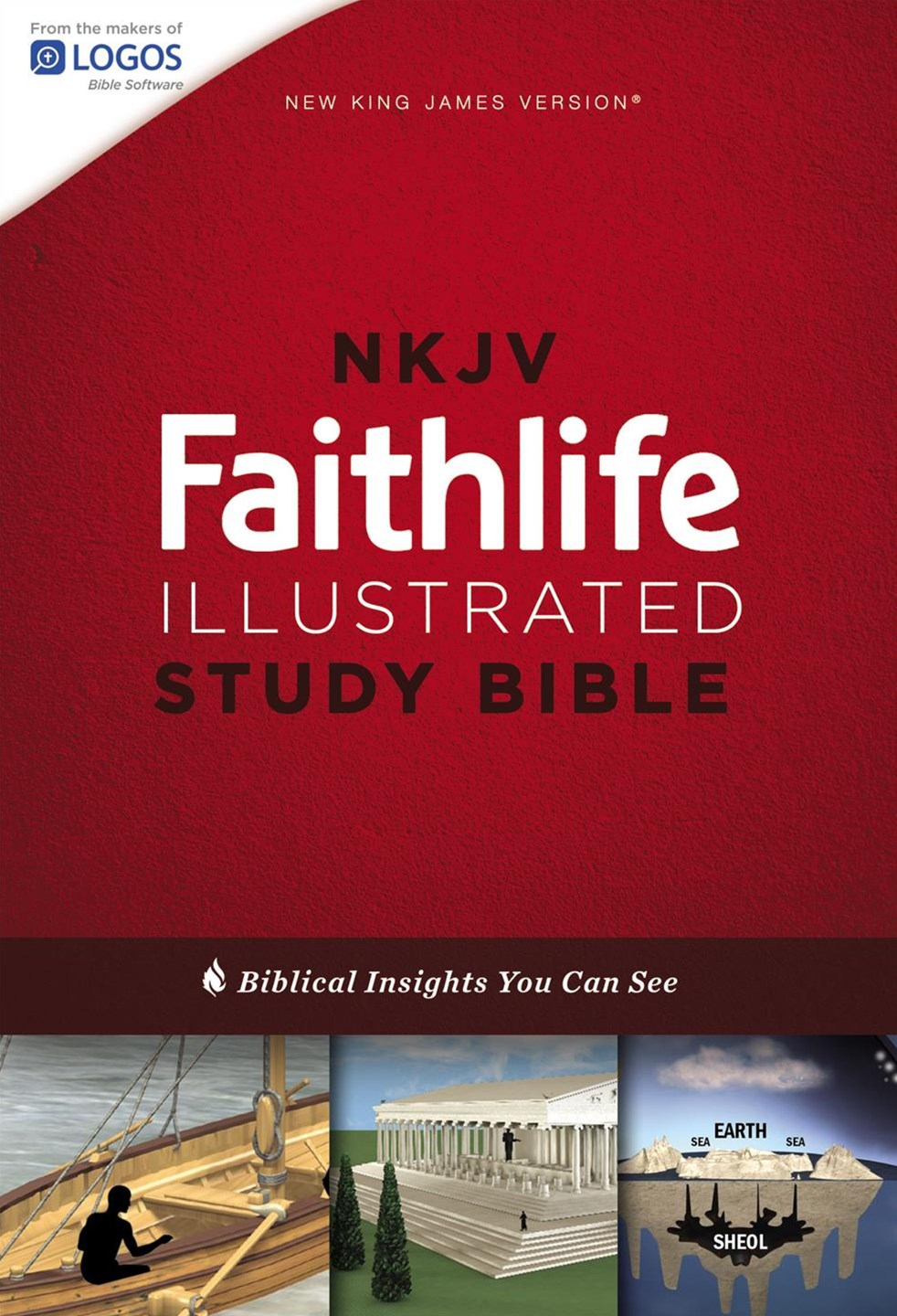 NKJV Faithlife Illustrated Study Bible Red Letter Edition