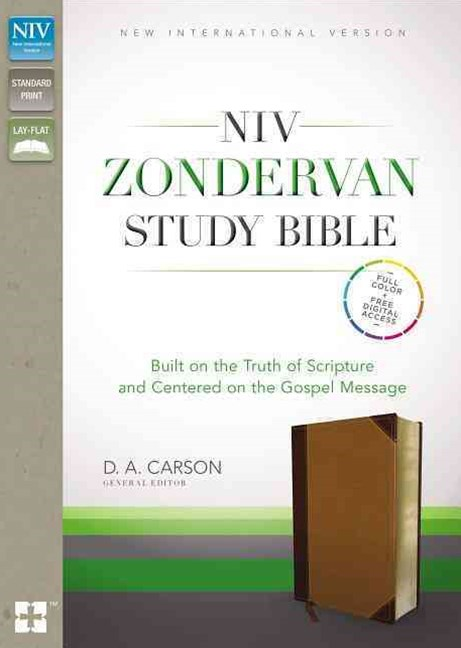 NIV Zondervan Study Bible: Built on the Truth of Scripture and Centered on the Gospel Message [Chocolate/Caramel Duo-Tone]
