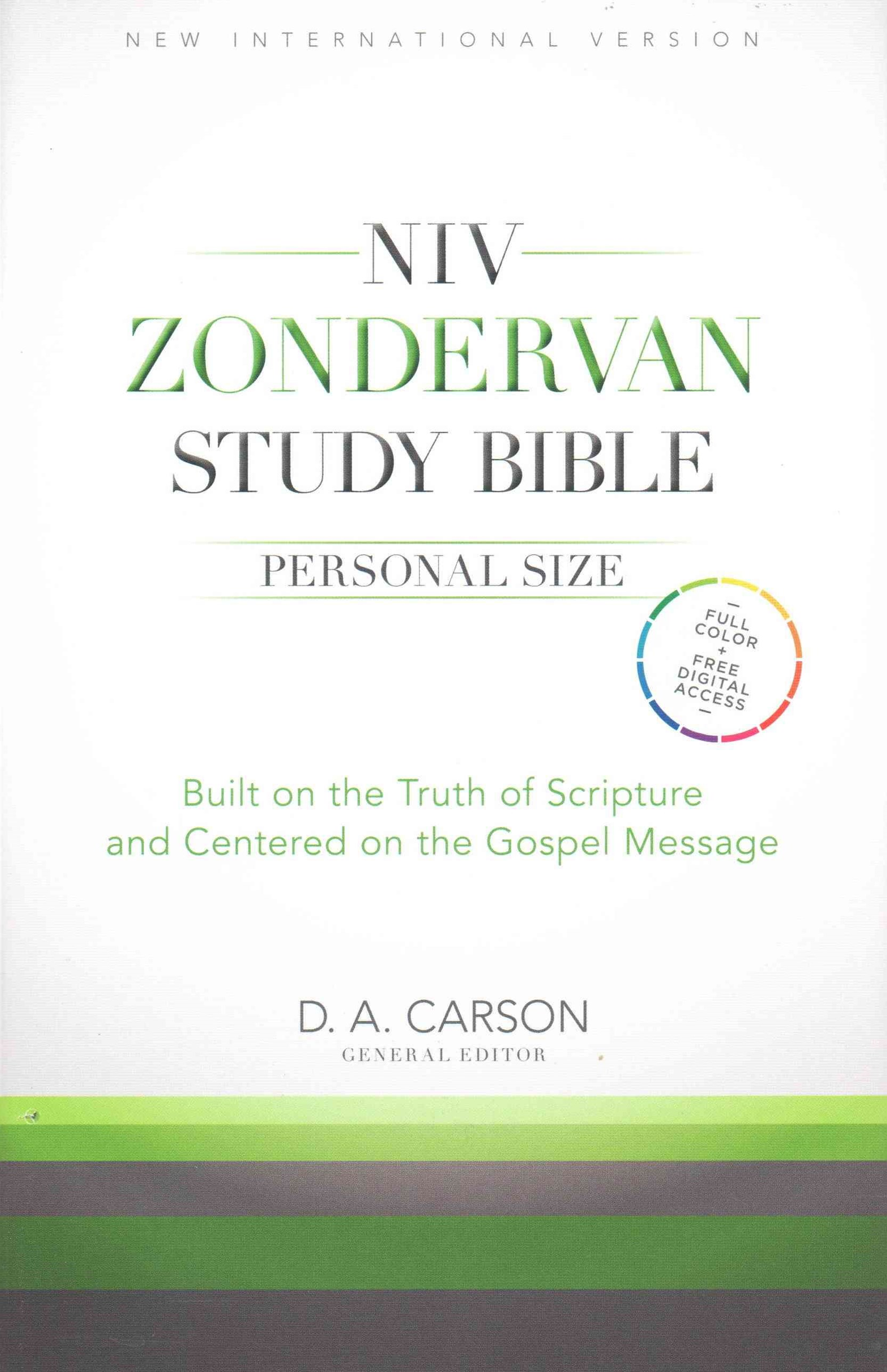 NIV Zondervan Study Bible, Personal Size: Built on the Truth of Scripture and Centered on the Gospel